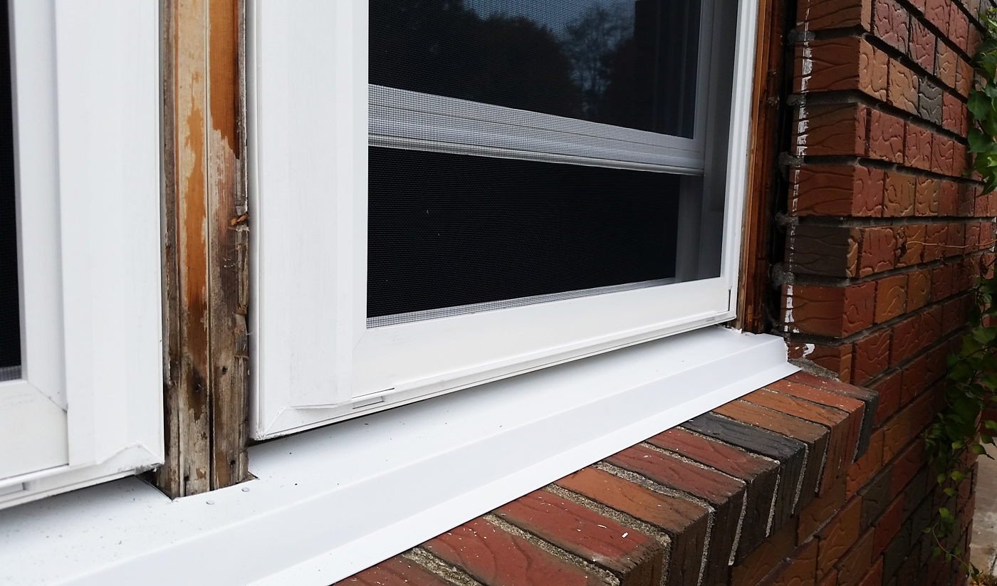 Window replacement w new frame and pvc trim buildex for Home window replacement